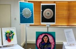 Display of the contributing artist's work. PHOTO:FACEBOOK/OEVAALI ART SHOP