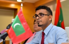 Finance Minister Ahmed Munawar at the ceremony to sign ADB's aid for waste management in Maldives. FILE PHOTO