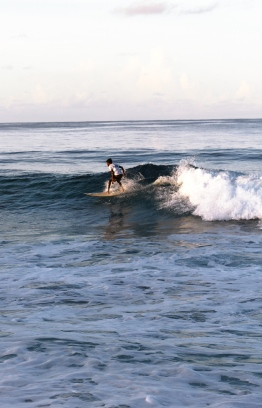 A surfer braving the infamous waves of Fuvahmulah. PHOTO: HAWWA AMAANY ABDULLA
