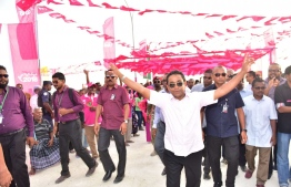 President Yameen visits R. Dhuvaafaru-PPM Campagn-Presidential Election 2018