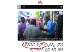 Fabricated news headlines, currently being shared across social media platforms using Mihaaru News' logo. IMAGE: FACEBOOK