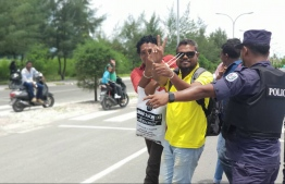 Men from Kolamaafushi who are being charged with terrorism. PHOTO: MDP