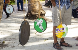 September 1, 2018, L. Maabaidhoo: One of the activity spots at the Laamu Turtle Festival 2018. PHOTO: HAWWA AMAANY ABDULLA / THE EDITION