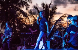 Jimmy Barnes performs live at Kandooma Maldives. PHOTO/HOLIDAY INN KANDOOMA