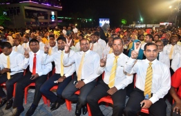 The opposition meeting commences. PHOTO: MIHAARU