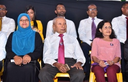Former Ministers Umar Zahir and Aneesa Ahmed, who served the country for many years, are also in attendance at the opposition coalition's gathering. PHOTO: MIHAARU