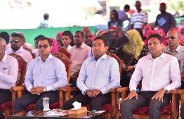 President Abdulla Yameen visits Gdh.Thinadhoo on his presidential campaign trail. PHOTO/PRESIDENT'S OFFICE