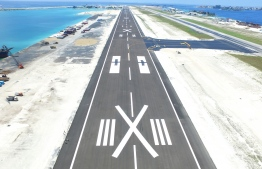 Velana International Airport's new runway under development. PHOTO/MACL