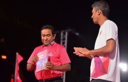 President Yameen releases the PPM 2018 manifesto at massive ruling party gathering.