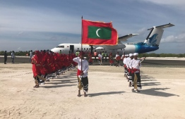 The inauguration ceremony of Kulhudhuffushi Airport. PHOTO: HUSSAIN WAHEED/ MIHAARU