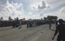 Kulhudhuffushi airport opening ceremony. PHOTO: HUSSAIN WAHEED/ MIHAARU