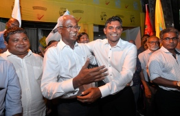 PRESIDENTIAL ELECTION 2018: IBU IBRAHIM MOHAMED SOLIH CELEBRATIONS AFTER WINNING THE ELECTIONS MDP FAISAL NASEEM