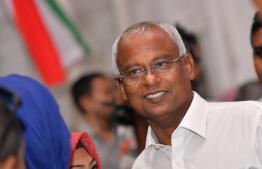 President-Elect Ibrahim Mohamed Solih. PHOTO: HUSSAIN WAHEED / MIHAARU