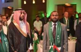 Dr. Mohamed Shaheem Ali Saeed participating in the Saudi Arabia National Day ceremonies. PHOTO: MIHAARU