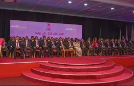 Members of Progressive Party of Maldives (PPM) taking part in the party's 2018 congress. PHOTO: PPM