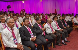 Members of Progressive Party of Maldives (PPM) at their last congress. PHOTO: PPM