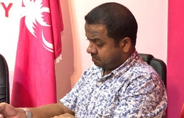 Maldivian Ambassador to Russia, Mohamed Hussain Shareef (Mundhu), elected as the new secretary general of PPM during the PPM Council meeting held October 3, 2018. PHOTO/PPM