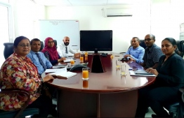 President-Elect Ibrahim Mohamed Solih's State Owned Enterprises (SOE) transitional sub committee meets with HDFC. PHOTO/MDP
