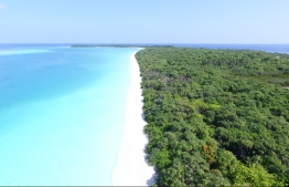 Aerial view of the beautiful beach dotting a corner of Farukolhu, Shaviyani Atoll. PHOTO: THE EDITION