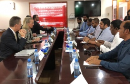 American Diplomats meeting with some of the local parliamentarians. PHOTO: SOCIAL MEDIA