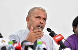 ELECTIONS COMMISSION PRESIDENT AHMED SHAREEF PRESS BRIEFING
