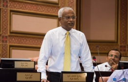 President-Elect Ibrahim Mohamed Solih at the parliament sitting on October 28, 2018. PHOTO/MAJILIS