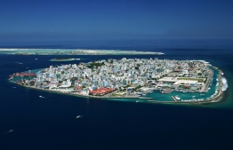 Aerial view of Male City, the capital island of Maldives. PHOTO/SHAHEE ILYAS