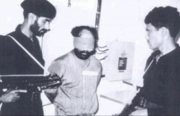 Abdulla Luthfee under national custody following the attempted coup d'état of November 3, 1988.