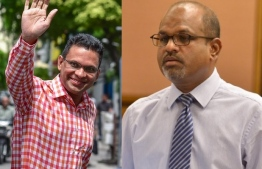 L to R: Former Minister of Defence and National Security, Mohamed Nazim and former deputy speaker and Dhiggaru MP Ahmed Nazim.
