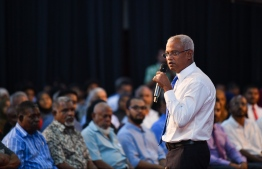 President Ibrahim Mohamed Solih submitted the 'Fisheries Bill' on Tuesday. PHOTO: HUSSAIN WAHEED/MIHAARU