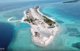 The island of Madivaru, after the vegetation was cleared for development purposes. MIHAARU: FILE PHOTO / ADHIYYU.