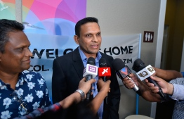 The former Minister of Defence Mohamed Nazim. PHOTO: AHMED NISHAATH/MIHAARU