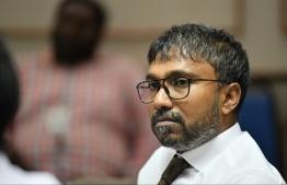 Dhangethi MP Ilham Ahmed. PHOTO/MIHAARU