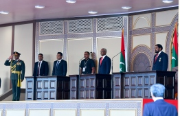 November 17, 2018, Male City: During the oath-taking of President Ibrahim Mohamed Solih. PHOTO: NISHAN ALI/MIHAARU