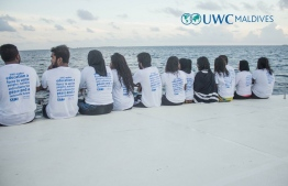 """UWC makes education a force to unite peoples, nations and cultures for peace and a sustainable future"" - UWC Maldives alumnus during a boat trip. PHOTO: UWC MALDIVES"