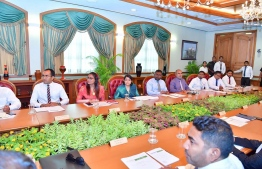 President Ibrahim Mohamed Solih's first cabinet meeting. PHOTO: THE PRESIDENT'S OFFICE