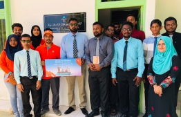 Dhiraagu launches high-speed fibre broadband and Dhiraagu TV in B.Thulhaadhoo. PHOTO/DHIRAAGU