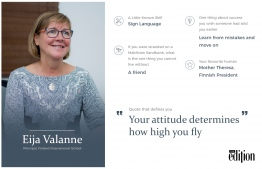Dr. Eija Valanne, Principal of Finland International School. IMAGE: AHMED SAFFU / THE EDITION