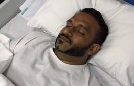 Former Vice Presient Ahmed Adeeb hospitalized in November. PHOTO: NASHWA / SOCIAL MEDIA