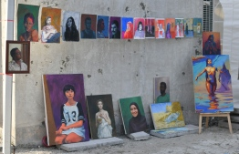Visual artist Vishal's exhibition during the 5-year anniversary show of 'Fannuge Dharin'. PHOTO: AHMED NISHAATH/MIHAARU