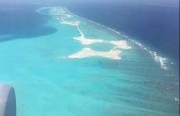 A lagoon in Male' atoll