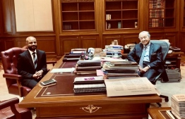 MP Faris meeting with Malaysian PM Dr Mahathir. PHOTO: TWITTER