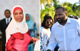 Tourism Minister Ali Waheed (R) and Housing Minister Aminath Athifa