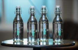 The glass bottles that MACL plans to use. PHOTO: AHMED NISHAATH/MIHAARU