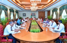 A cabinet meeting of President Ibrahim Mohamed Solih. PHOTO: PRESIDENT'S OFFICE