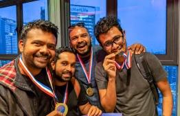 The Maldivian team at the Malaysia Mindvalley Hackathon 2018. PHOTO: TWITTER