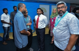 Health Minister Abdulla Ameen visits IGMH. PHOTO: MIHAARU