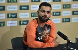 India cricket captain Virat Kohli attends a press conference ahead of the first Test at the Adelaide Oval in Adelaide on December 5, 2018. (Photo by PETER PARKS / AFP) /