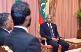 President Ibrahim Mohamed Solih at the President's Office. PHOTO: AHMED HAMDHOON/MIHAARU
