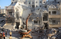 Buildings in rubble in the Syrian war. PHOTO: AFP